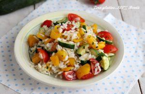 Insalata di Riso con Peperoni e Zucchine