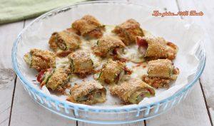Girelle di zucchine ripiene di salame e scamorza