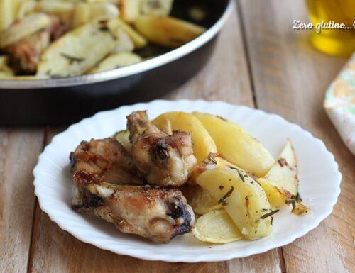 Alette di pollo e patate al microonde
