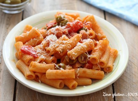 Pasta con pancetta e olive