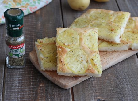 Focaccia senza glutine al rosmarino e patate
