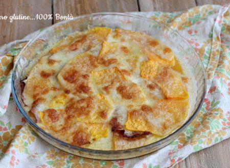 Parmigiana di zucca e mozzarella
