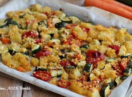 Contorno di verdure croccanti al forno