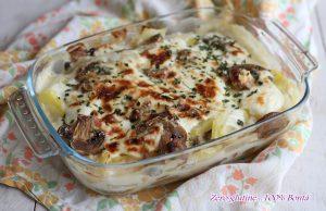 Parmigiana di patate e funghi
