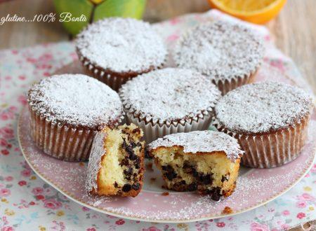 Muffin all'arancia con gocce di cioccolato