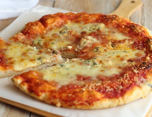 Pizza ai 4 formaggi senza glutine
