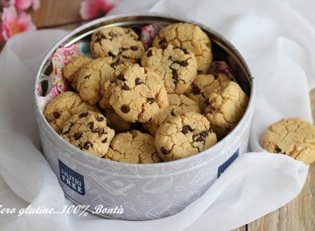 Biscottini senza lattosio con gocce di cioccolato