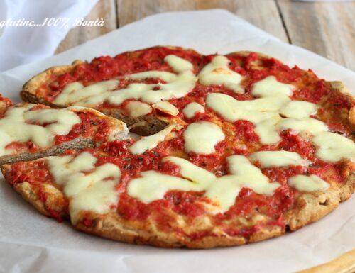 Pizza senza lievito e senza glutine