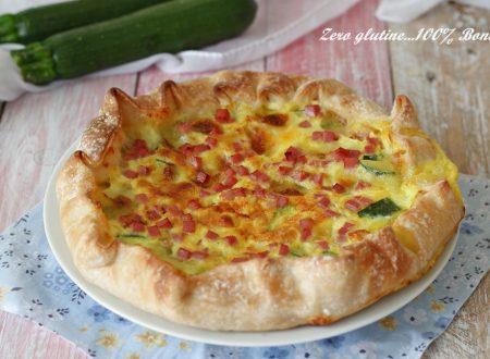 Torta di pasta sfoglia con zucchine e prosciutto cotto