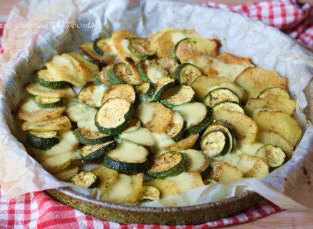 Contorno di zucchine e patate al forno