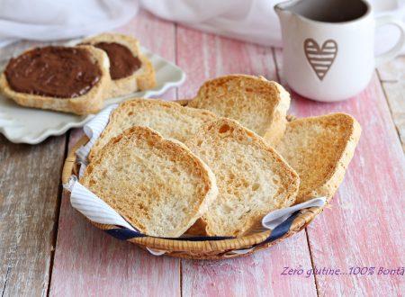 Fette biscottate fatte in casa senza glutine