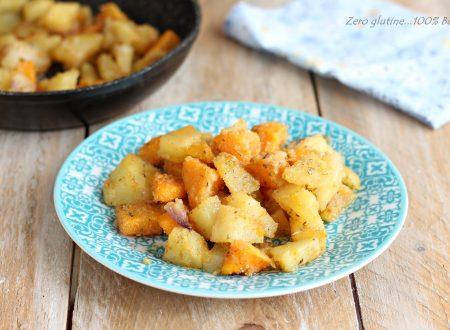 Contorno di Zucca e patate in padella
