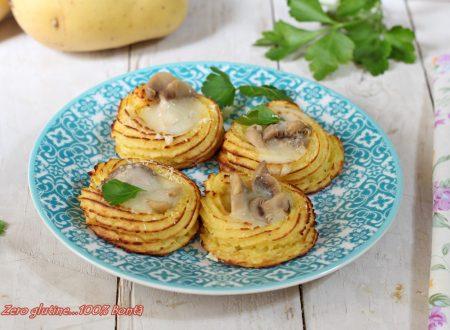 Cestini di patate ripieni di funghi