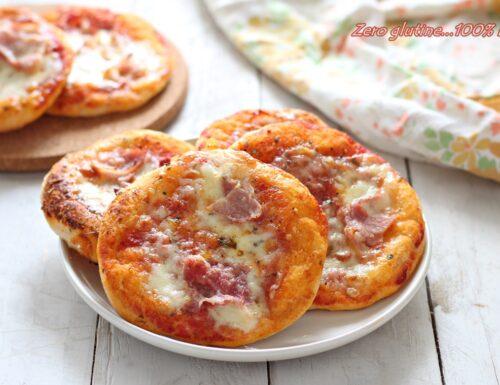 Pizzette con prosciutto e mozzarella