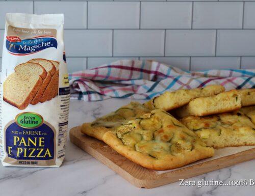 Pizza con zucchine e mozzarella