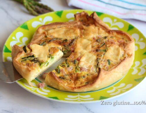 Torta di pasta sfoglia con asparagi e pancetta