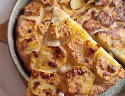 Pizza con le patate croccante