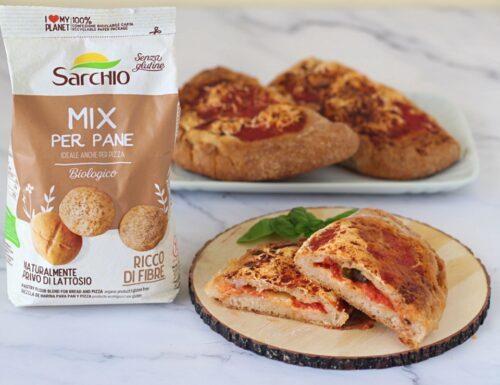 Calzoni al forno con Mix sarchio per pane senza glutine
