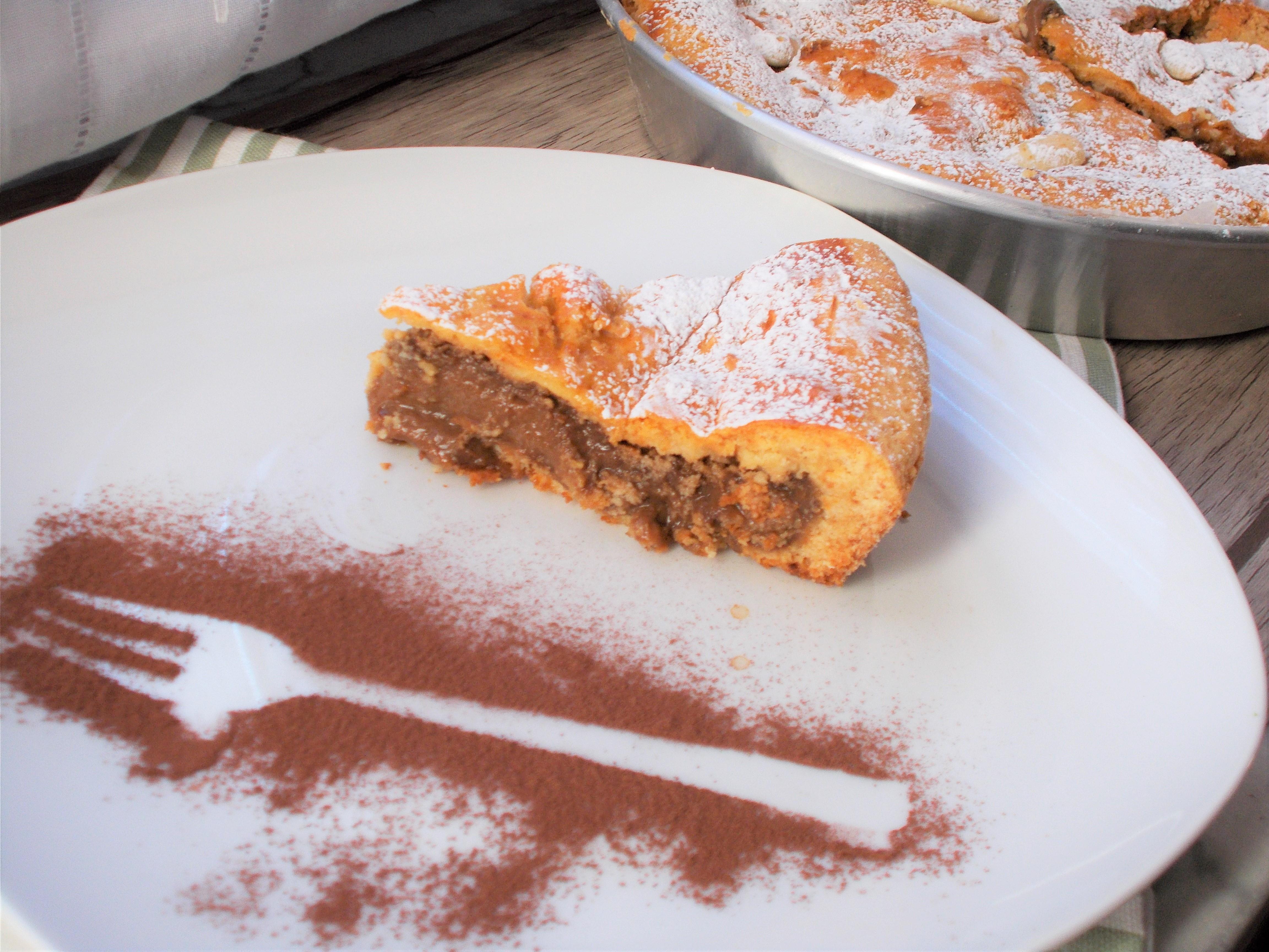 Torta Della Nonna Al Caffè E Amaretti Con Pasta Frolla Alle Mandorle