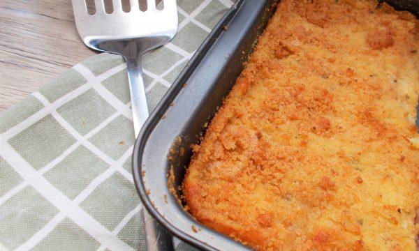 Gateau di Patate con Salame e Mozzarella (Senza Uova)