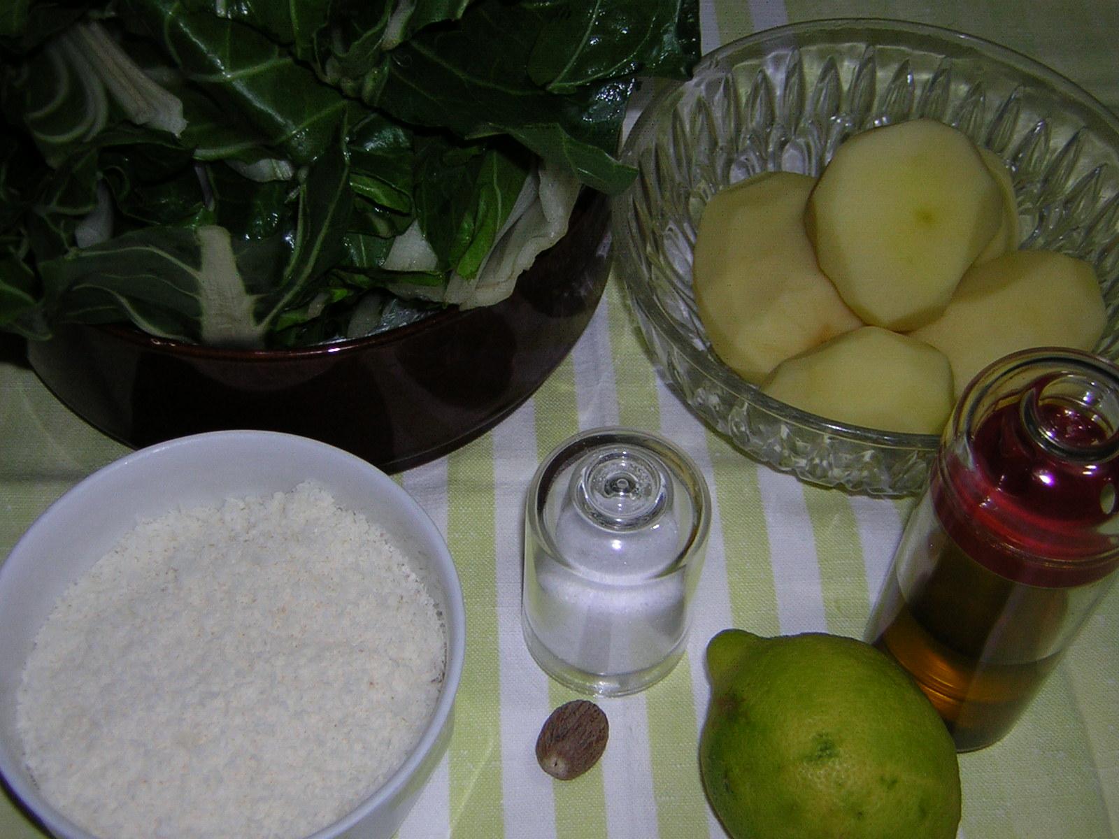 Ingredienti per la preparazione dello sformato di patate e bietola
