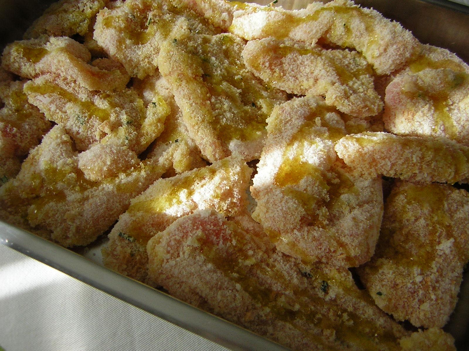 petto di pollo impanato al forno pronto da cuocere