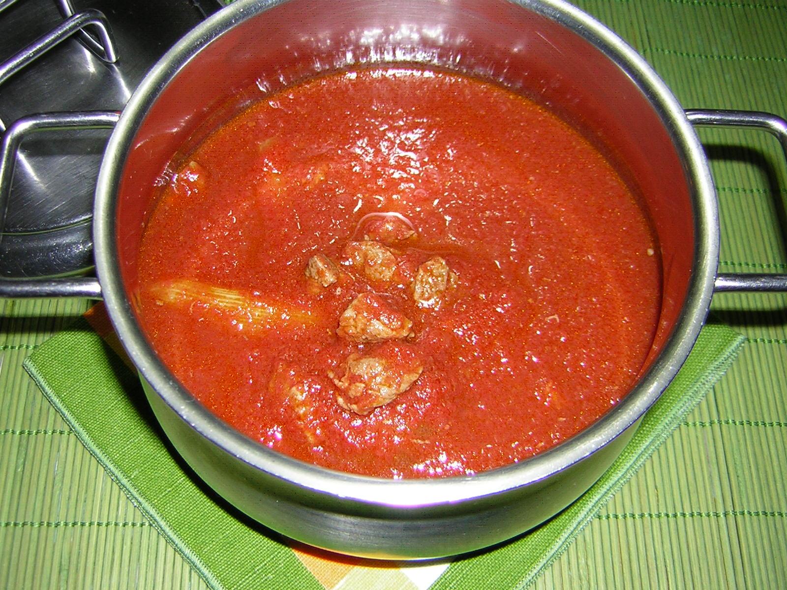 sugo per la polenta con sugo di carne