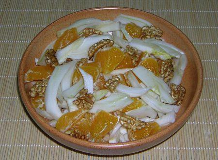 Insalata finocchi arance e noci