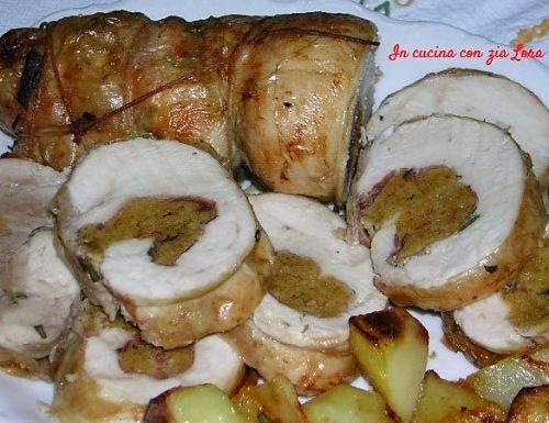 Pollo disossato al forno con patate