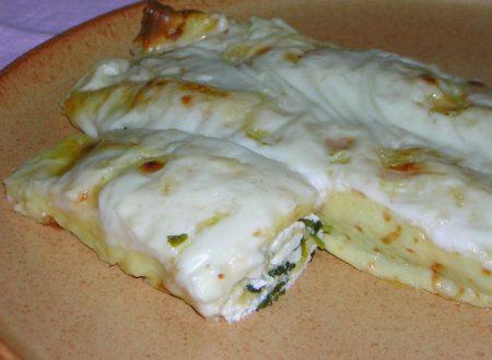 Crepes ricotta e spinaci con besciamella