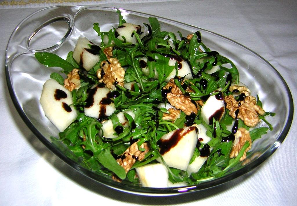 insalata rucola pere e noci
