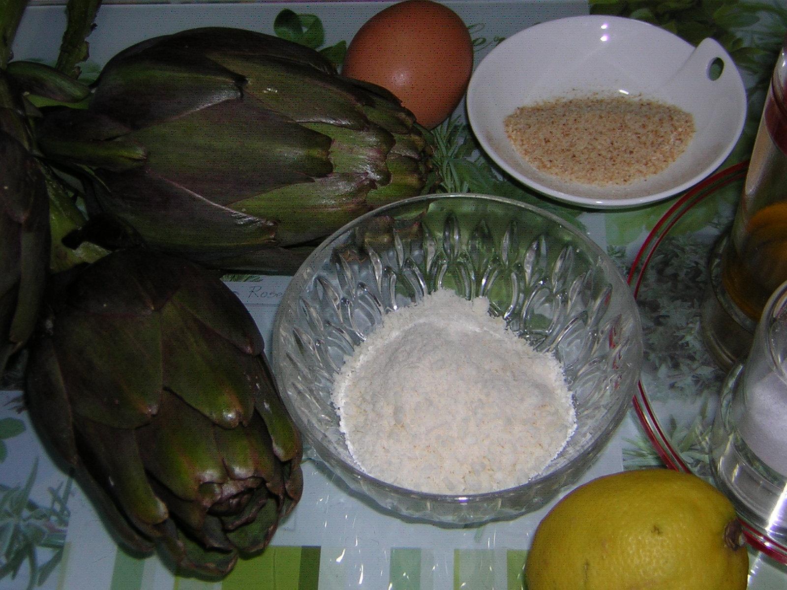 ingredienti per i carciofi ripieni