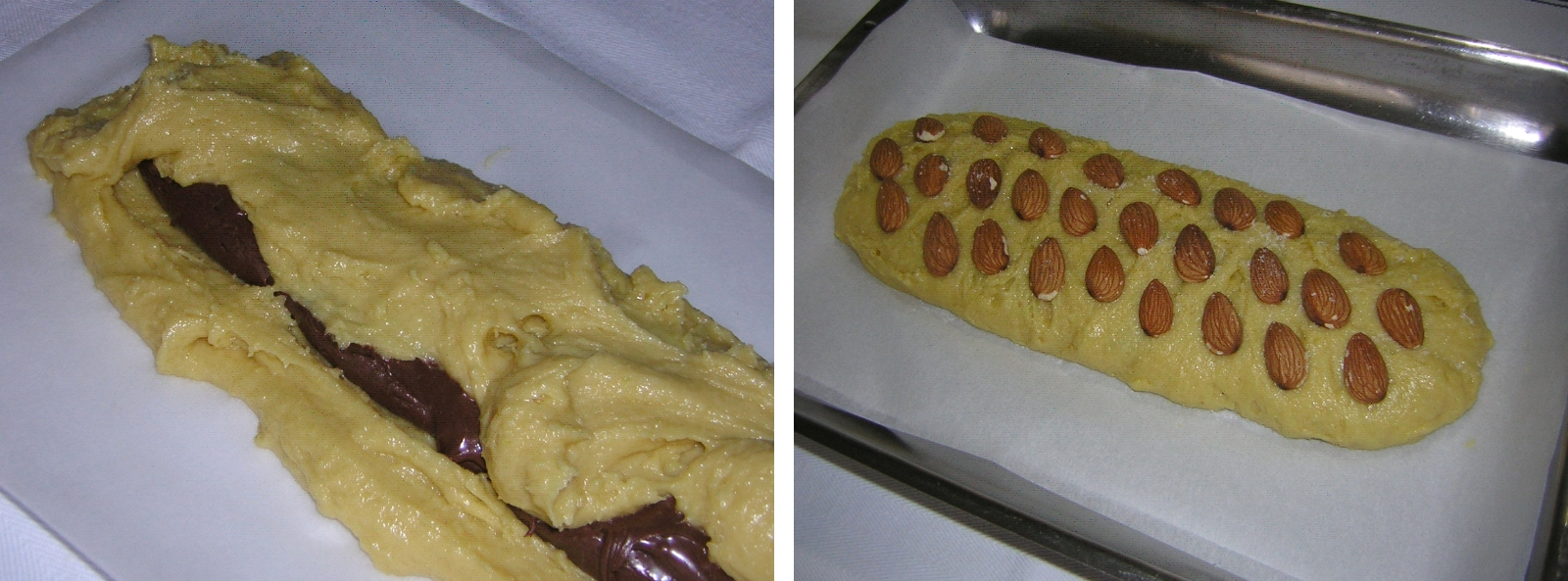 preparazione 2 del ciambellone con nutella