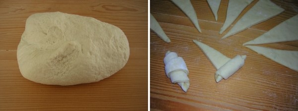 preparazione dei panini al latte con sesamo da farcire