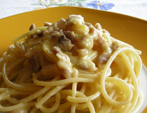 Carbonara con pancetta fresca