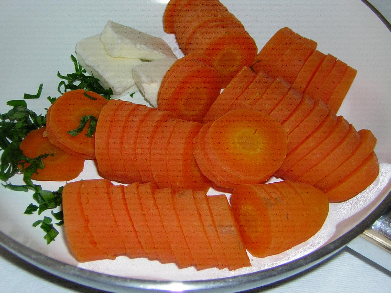 preparazione delle carote al burro