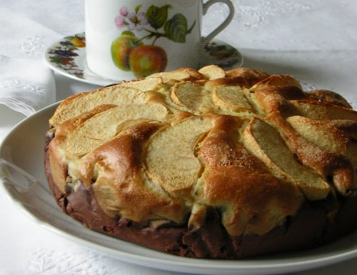 Torta di mele al cioccolato