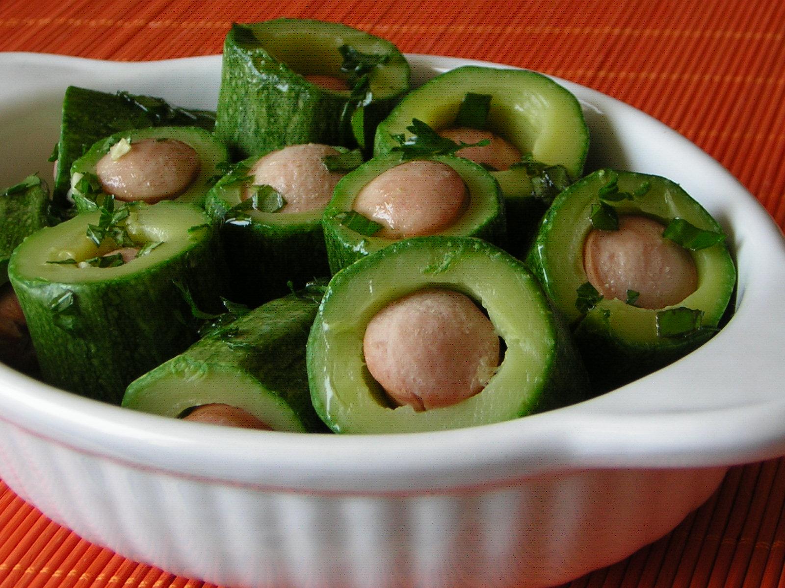zucchine ai wurstel