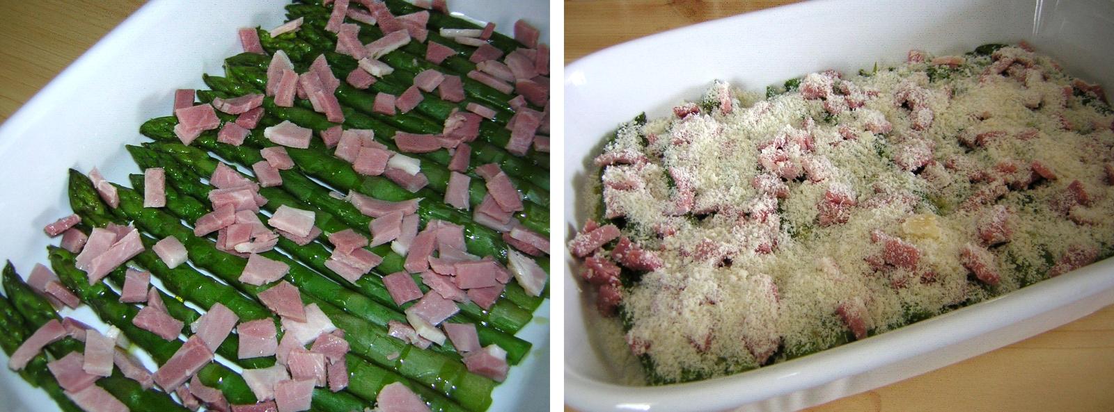 preparazione degli asparagi gratinati