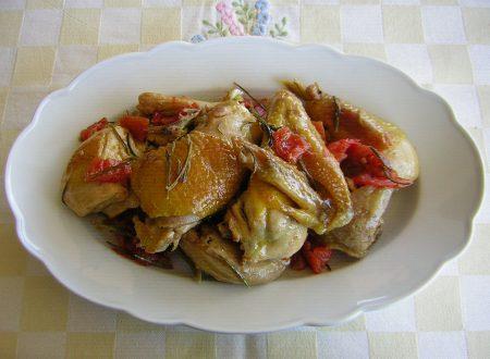 Pollo in potacchio alla marchigiana
