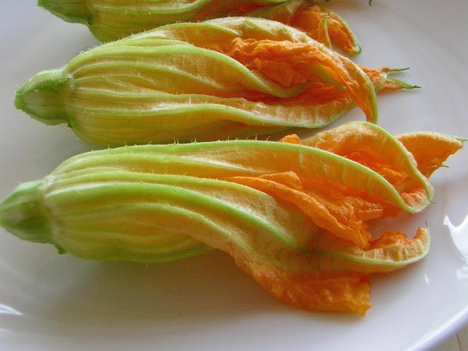 preparazione dei fiori di zucca fritti croccanti