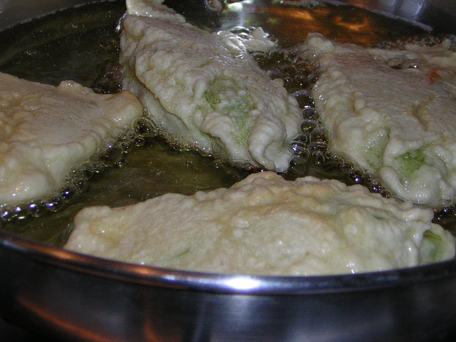 frittura dei fiori di zucca fritti croccanti