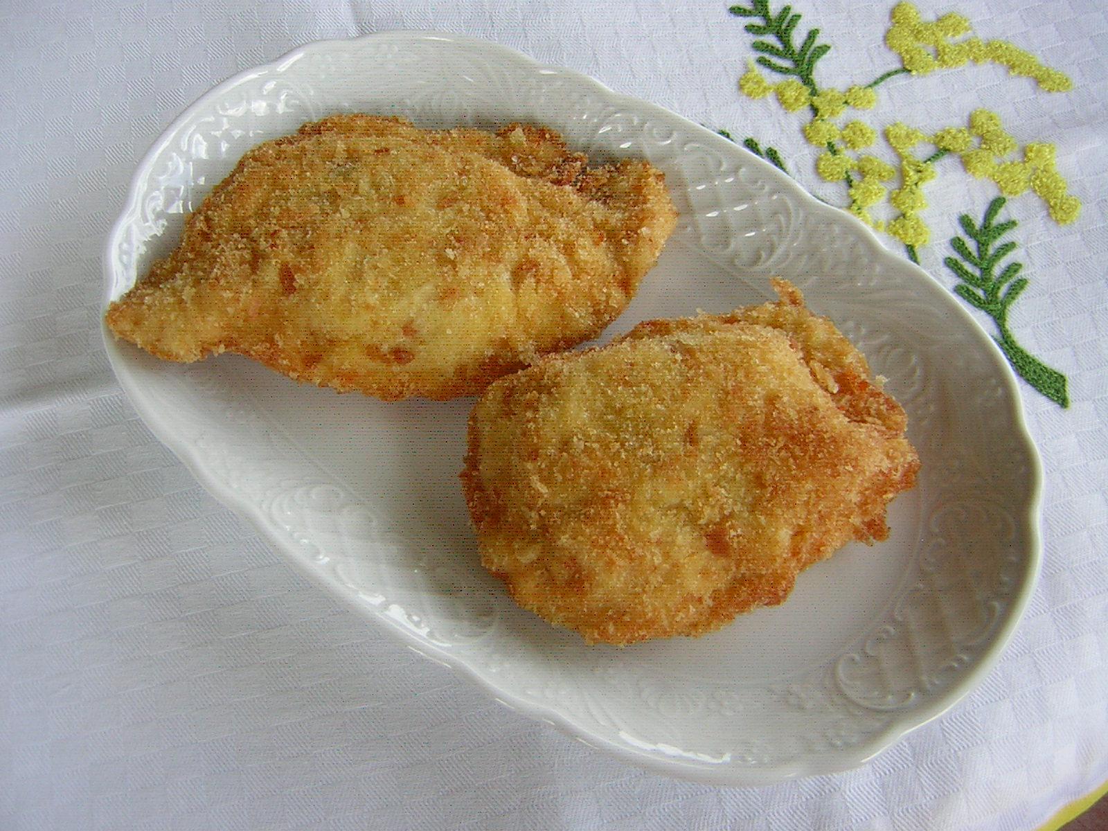 portafogli di petto di pollo fritti