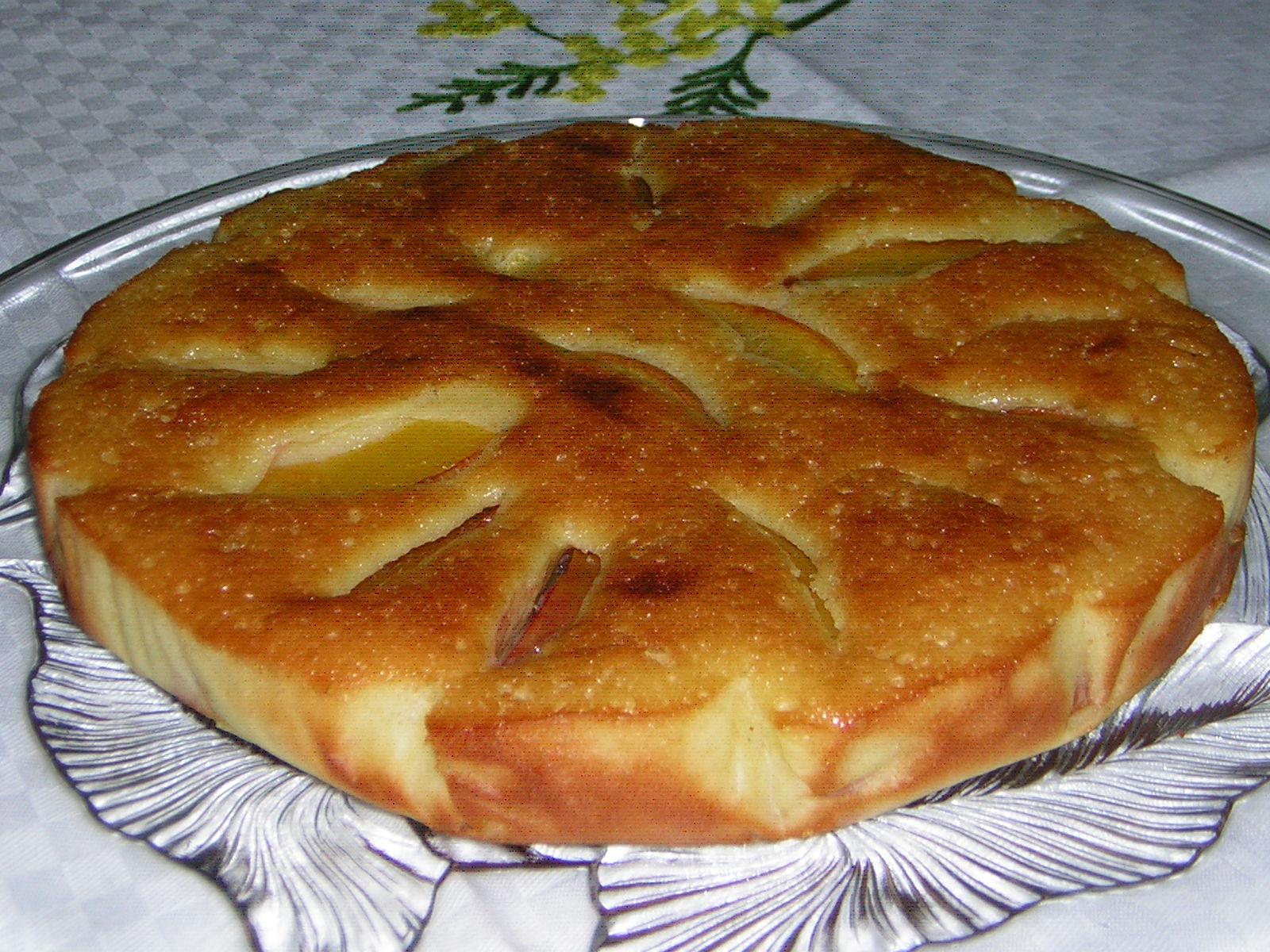 torta di pesche