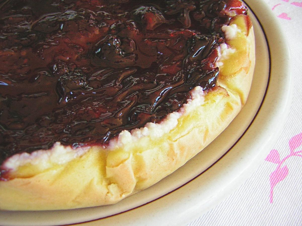 torta con ricotta e marmellata
