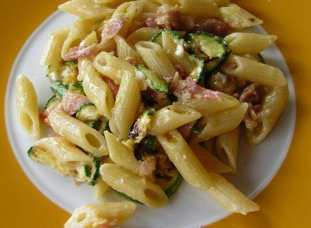 Pasta con zucchine grigliate