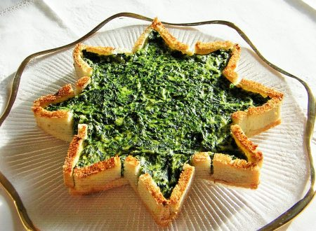 Torta stella salata ricotta e spinaci