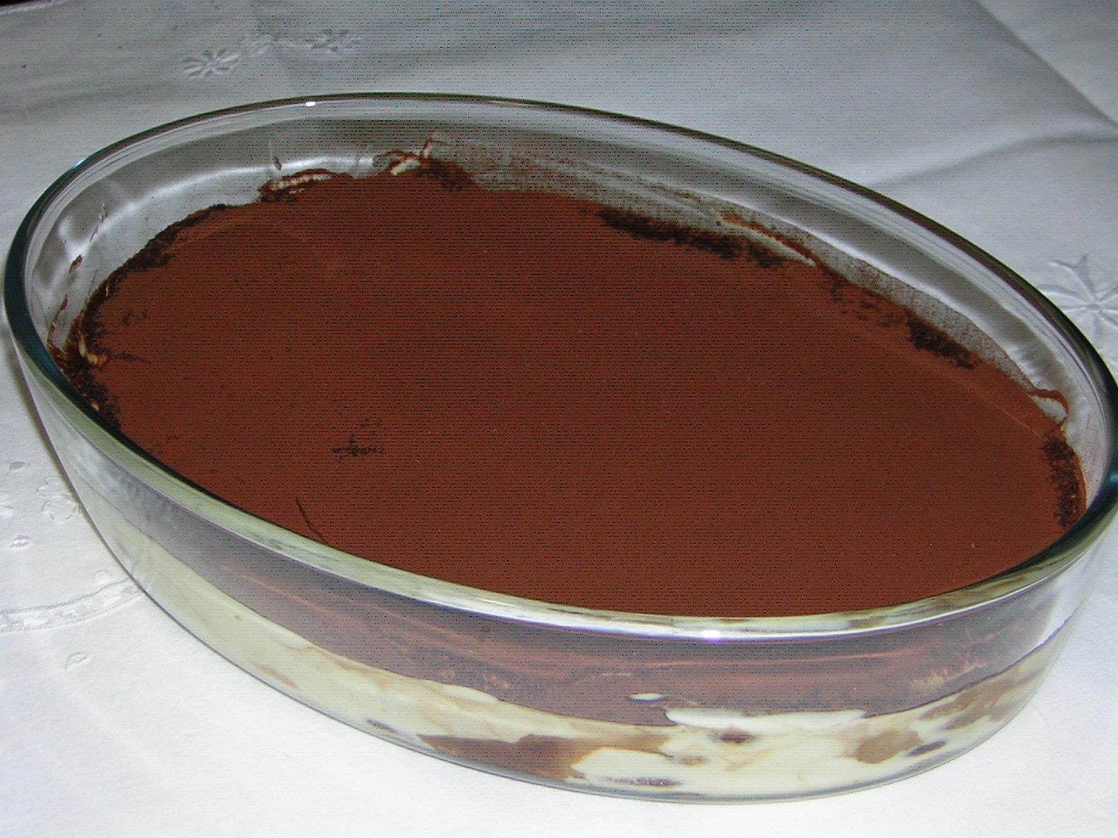 tiramisù con pavesini al cioccolato