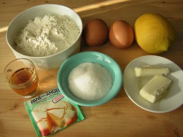 ingredienti per le castagnole al forno con cuore morbido