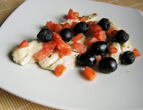 Filetti di gallinella con olive